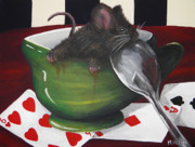 Alice In Wonderland Paintings - Time for tea by Meagan  Visser