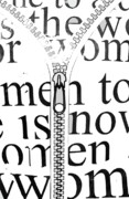 Calligraphy Art Posters - Time For Women Poster by Anahi DeCanio