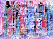 Boardroom Mixed Media Metal Prints - Time in the City Metal Print by David Raderstorf