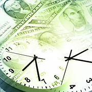 Clock Photos - Time is money  by Les Cunliffe