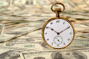 Finance Photo Prints - Time is over Money Print by Olivier Le Queinec