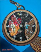 Fire Time Paintings - Time is running out and I am running scared by Deidre Firestone