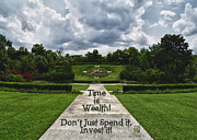 Barbara Middleton Prints - Time is Wealth Print by Barbara Middleton