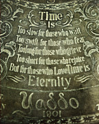 Verdigris Posters - Time is...Eternity Poster by Lisa Russo