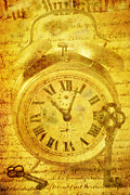Clock Hands Prints - Time key Print by Garry Gay
