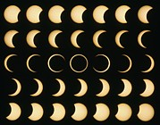 Solar Eclipse Photo Posters - Time-lapse Image Of A Solar Eclipse Poster by Dr Fred Espenak