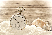 Pocket Watch Framed Prints - Time Framed Print by Olivier Le Queinec