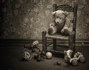 Plaything Metal Prints - Time Out - a teddy bear still life Metal Print by Tom Mc Nemar