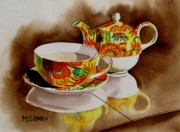 Teapot Paintings - Time Out by Maria Barry