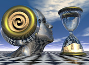 Surrealism Prints - Time Out of Time Print by Jon Gemma In Your Living Room