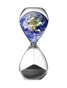 Problem Prints - Time Running Out For The Earth, Artwork Print by Victor De Schwanberg