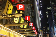 Iphonesia Posters - Time Square Pizza Poster by Mickey Hatt