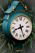 Clock Hands Prints - Time Stands Still in St Augustine Print by DigiArt Diaries by Vicky Browning
