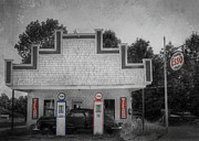 Gas Stations Prints - Time Stands Still Print by Lori Deiter