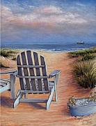 Sand Pastels Prints - Time to Chill Print by Susan Jenkins