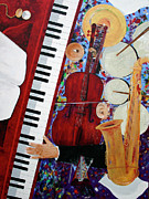 Pianos Paintings - Time To Play by Andrew Wells