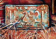 Old Trucks Paintings - Time to Renew by Suzy Pal Powell