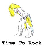 Rock N Roll Drawings Posters - Time to Rock Poster by Jeannie Atwater Jordan Allen