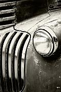 Headlight Photo Metal Prints - Time Traveler Metal Print by Holly Kempe