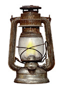 Wick Prints - Time Worn Kerosene Lamp Print by Michal Boubin