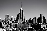 Black And White New York City Prints - Timeless - The Empire State Building and the New York City Skyline Print by Vivienne Gucwa