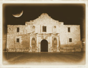 Old Photo Posters - Timeless Alamo Poster by Carol Groenen