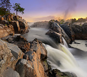 Great Falls Park Maryland Framed Prints - Timeless Chorus Framed Print by Bernard Chen