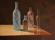 Old Philadelphia Bottles Prints - Timeless Sand Print by Thomas Hoyle