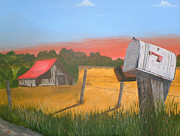 Old Barn Paintings - Times passed  by Charlie Brown