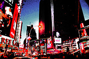 Crowd Scene Originals - Times Square - digital art by Magdalena Warmuz-Dent