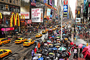 Broadway Photo Posters - Times Square 1 Poster by Andrew Fare