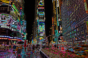Landscapes Art - Times Square at Night II by Clarence Holmes