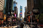 New York Buildings Prints - Times Square Print by Benjamin Matthijs