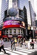 Wall Street Digital Art Prints - Times Square Corner Print by Linda  Parker