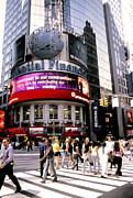 Times Square Corner Print by Linda  Parker