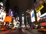 Landscapes Metal Prints - Times Square Metal Print by John Gusky
