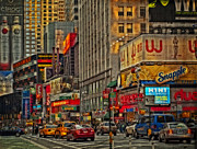 New York Photos Posters - Times Square  Poster by Kathy Jennings