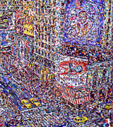 Marilyn Sholin Digital Art Prints - Times Square Print by Marilyn Sholin