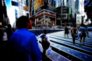 Times Square New York City Print by Lawrence Christopher