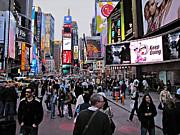 David Dehner Framed Prints - Times Square New York Framed Print by David Dehner