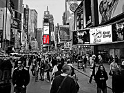 New York Signs Photo Framed Prints - Times Square New York TOC Framed Print by David Dehner