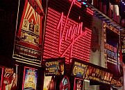 City Lights Posters - Times Square Night Poster by Debbi Granruth