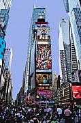Kelley King Digital Art Prints - Times Square NYC Print by Kelley King