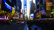 Times Square Nyc Digital Art Prints - Times Square Nyc Print by Moz Art