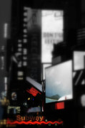 Nyc Mixed Media Metal Prints - Times Square Subway Print Metal Print by Anahi DeCanio