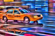 Lighting - Times Square Taxi III by Clarence Holmes
