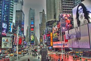 Times Square Two Print by Alberta Brown Buller