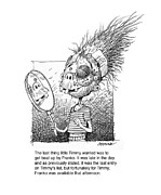 Humorous Greeting Cards Drawings Metal Prints - Timmy Metal Print by Curtis Chapline