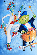 Picture Book Illustrations Prints - Timpani Symphony Print by Hanne Lore Koehler