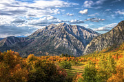 Autumn Scene Framed Prints - Timpanogos From Cascade Meadows Framed Print by William Church - Summit42.com